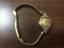 Vintage 1943 Bulova Ladies 17J Watch 10k GF Sterling Base - Ticks but stops easy