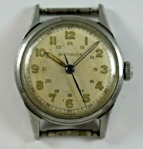 Vintage Swiss Made Wittnauer 24 Hour Dial Military Manual Wind Wrist Watch lot.6