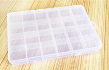 24 Cells Slot Transparent Storage Box Cover Shell Electronics Component Box