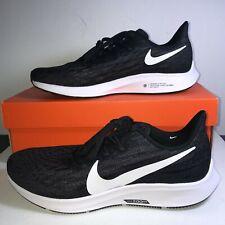 Women's Nike Air ZOOM PEGASUS 36 Running Shoes US Size 9 AQ2210 004 Black/White