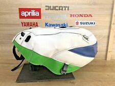 KAWASAKI ZXR750 1991-92 WHITE GREEN BLUE BAGSTER BAGLUX TANK COVER 1195B TC2411