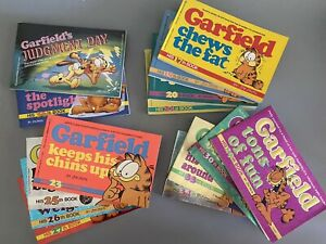 Lot Of 14 Garfield Paperback Books By Jim Davis - Vintage Comics