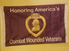 Purple Heart (Honoring America's Combat Wounded Veteran's) 3 x 5 Flag # 112