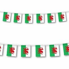3M 10 Flags Wales Flag Bunting Rugby 6 Nations Football Street Pub Decorations