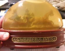 Vintage Currier and Ives Snow Globe/ night light?