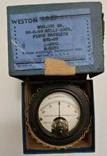 50 0 50 Ma Vintage Analog Panel Meter Weston 301