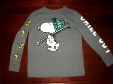 Gap Kids Boys M/8 CHILL OUT Ski Snoopy Peanuts Shirt Holiday Winter Vacation