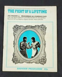 VTG Joe Frazier Vs. Muhammad Ali Closed Circuit U.K. Boxing Program March 8 1971