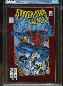 SPIDER-MAN 2099 #1 CGC GRADED 9.8 WHITE PAGES 1992 ORIGIN ISSUE / RED FOIL COVER
