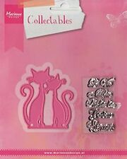 Marianne Design Collectables Dies & Stamp Set ~ A Pair of French Cats COL1344