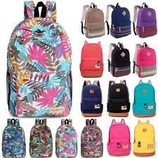Womens Girls Canvas Ladies Rucksack Backpack Student School Travel Shoulders Bag