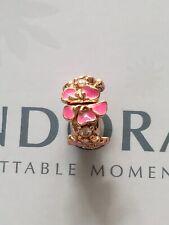 Genuine Pandora Rose Gold Peach Blossom Flower Clip 788099CZ with Free Pouch