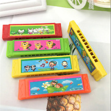 Kids Cartoon Plastic Harmonica Toy Fun Musical Early Educational Gift Toy 1PC HS