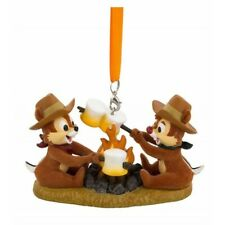 Disney Chip and Dale at Campfire Figurine Christmas Hanging Ornament  N:1042