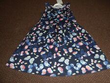 NEW girls h+m blue butterfly summer dress 6 - 7 - 8 YEARS  - bnwt