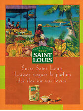PUBLICITE ADVERTISING 025  1997  SAINT-LOUIS    cassonade pure canne  sucre