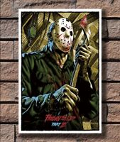 Friday The 13th Horror Movie Film New Art Poster 12x18 24x36 T-116 Hot Jason