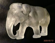 Vintage Clear Elephant Covered Candy Dish - Bottom Only