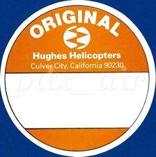 RARE ORIGINAL HUGHES HELICOPTERS CULVER CITY, CALIFORNIA STICKER