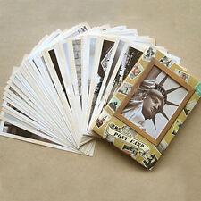 1set/32pcs Vintage Travel Landscape Postcard Greeting Card Gift Cards