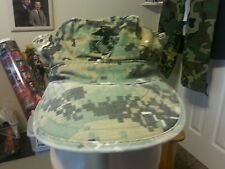USMC FATIGUE COVER CAP 8 POINT WOODLAND DIGITAL UTILITY CAMO CAP XSmall
