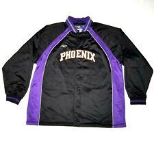 e5289f50 Phoenix Suns Reebok Game Authentics Warm Up Jacket SZ 2XL Mens Zip Button  Black