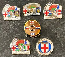 More details for full set of england euro 2020 football souvenir enamel pin badges x 6 - in stock