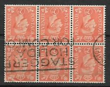 Great Britain 1941 2d booklet sheet watermark inverted SC 261, SG 488 used