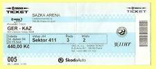 Orig.Ticket     Eishockey WM Tschechien 2004     KASACHSTAN  - DEUTSCHLAND  !!