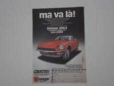 advertising Pubblicità 1977 DATSUN 240 Z BBURAGO
