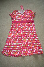 NWT GYMBOREE Little Hearts Pink Hearts SS Dress~7