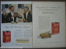 Lot of Two Vintage 1940 Pall Mall Cigarettes Original Print Ads