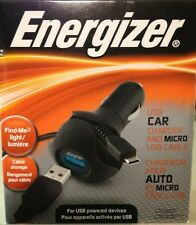 Energizer USB Car Charger Apple Cable PC 1 CACAP