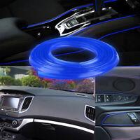 Blue 16.4ft 5m Car Interior Door Crack Edge Line Insert Molding Trim Strip Decor