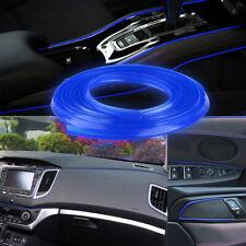 Blue 16.4ft 5m Car Interior Door Gap Edge Line Insert Molding Trim Strip Decor