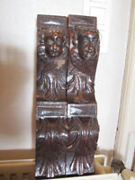 super pair off antiques cariatydes   200 years old