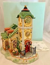 PartyLite Old World Village Collection The Clocktower P7887 Mint in Box Complete