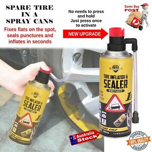 TRUCK 4WD CAR PUNCTURED FLAT TYRE INSTANT FIX-A-FLAT SPARE REPAIR SPRAY CANS
