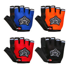 4 Color Adaults Sports Padded Cycling Fingerless Gloves Bike Half Finger Bicycle