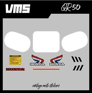 Kit déco / graphic kit pour Honda qr 50 de 1985, replica de l'original OEM