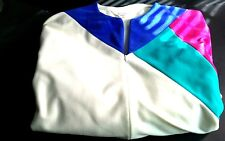 Vtg VANITY FAIR DACRON POLYESTER sz P Multi Color Long Zip Front Bath Robe USA