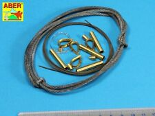 Aber 1/16 Tow Cables &Track Cable w/Brackets for Tiger I, King Tiger &Panther