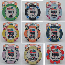 Sample pack fiches in ceramica WSOP RIO Replica