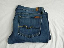 7 For All Mankind Women's Jeans Classic BootCut Sz 31 Casual Medium Wash FREE SH