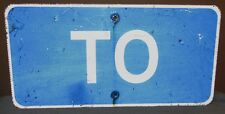 TO Hospital Blue Aluminum Indiana Street/Highway Sign 24x12 Garage/Man Cave S438