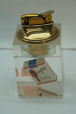 VINTAGE EVANS TABLE LIGHTER CHESTERFIELD CIGARETTES ADVERTISING TOBACCIANA