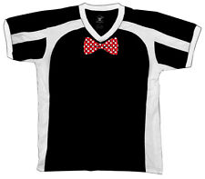 Polka Dot White And Red Bowtie  Retro Sport T-shirt