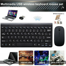 Wireless Keyboard and Mouse 2.4GHz Combo Computer Desktop PC Laptop Cordless