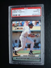 1992 Fleer ULTRA **FRANK THOMAS - The Big HURT**PSA 10** Card #44 White SOX HOF