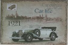 Metal Tin Sign 30 x 20 cm Car Life 1921 Wall Plaque Decoration